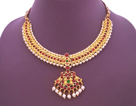 Kuchipudi Bharatanatyam Short Necklace - SN2229