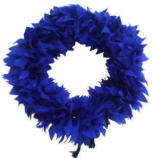 Synthetic Cloth Blue Flower Veni