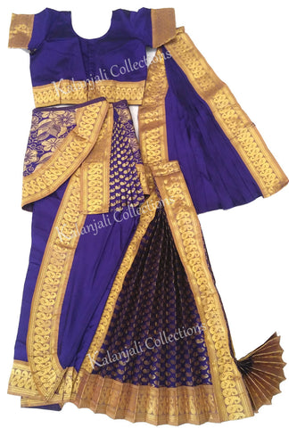 Deep Violet with Gold Border