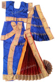 Readymade Kuchipudi Costume - Blue & Red
