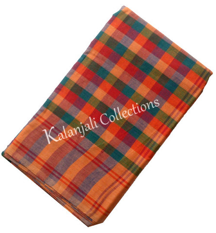 Dance Practice Saree - Multi color checks saree
