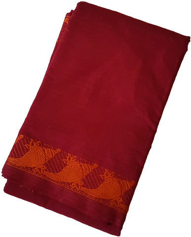 Shankam Dance Practice Saree -Maroon Orange border