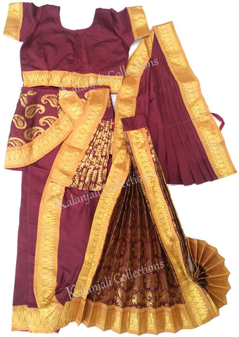Deep Maroon with Gold Border