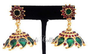 Kerala Palakka Jhumki Earrings - EJK2602