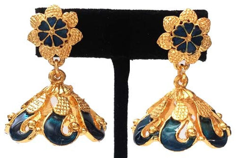 Kerala Style Palakka Earrings - EJK2603B