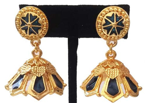 Kerala Style Palakka Earrings - EJK2604B