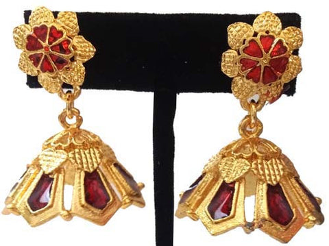 Kerala Style Palakka Earrings - EJK2604R