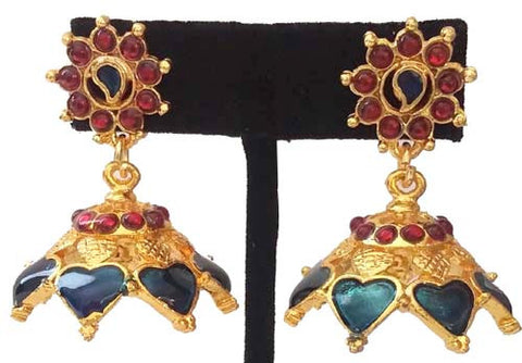 Kerala Style Palakka Earrings - EJK2606B