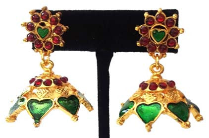 Kerala Style Palakka Earrings - EJK2606G