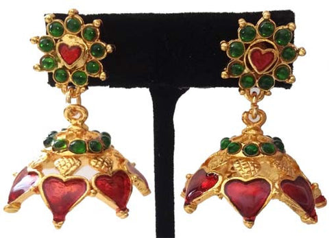 Kerala Style Palakka Earrings - EJK2606R