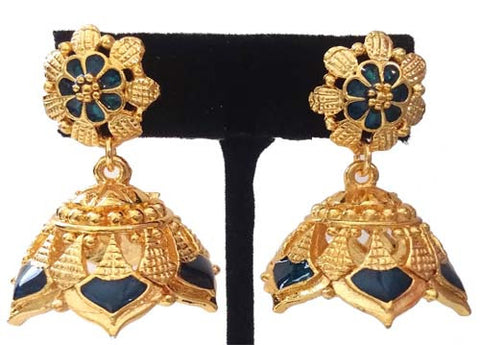 Kerala Style Palakka Earrings - EJK2607B