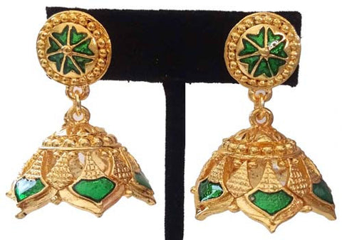 Kerala Style Palakka Earrings - EJK2607G