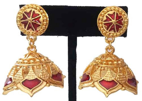 Kerala Style Palakka Earrings - EJK2607R