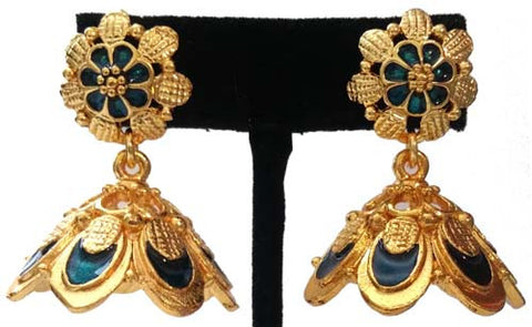 Kerala Style Palakka Earrings - EJK2608B