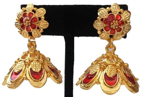 Kerala Style Palakka Earrings - EJK2608R
