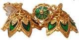 Green Enamel Jhumki Earrings - EJK2610G