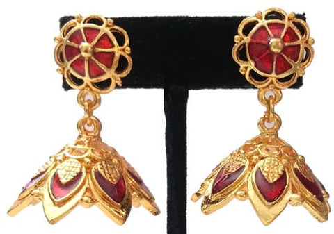 Kerala Style Palakka Earrings - EJK2610R