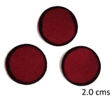Black Outline Round Maroon Bindi - All sizes