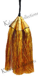 Metalic Shining Fancy Kunjalam - Gold