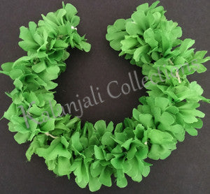 Synthetic Cloth Green Flower Stream- 1'