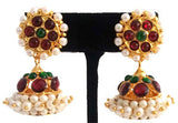 Lightweight Pearl Kempu Jhumki Earrings-JMK2505