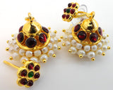 Kempu Pearl Jhumki Earrings - JMK2513
