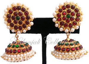 Pearl Kempu Jhumki Earrings - JMK2517G