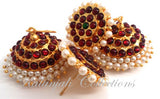 Pearl Kempu Jhumki Lightweight Earrings - JMK2517R