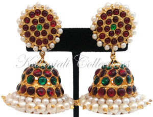 Pearl Kempu Jhumki Earrings - JMK2527