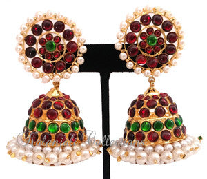 Large Size Jhumki Earrings - JMK2528