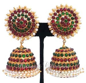 Pearl Kempu Jhumki Earrings - JMK2525