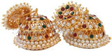 Multi Color Stones Jhumki Earrings - JMK2521M