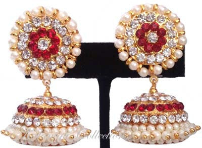 Elegant Stones Jhumki Earrings - JMK2522R