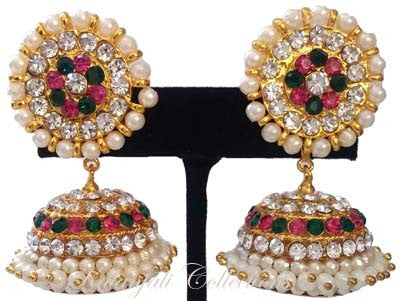 Elegant Stones Jhumki Earrings - JMK2522M