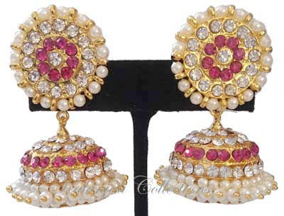 Elegant Stones Jhumki Earrings - JMK2522P