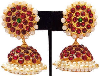 Kempu Pearl Jhumki Earrings - JMK2529