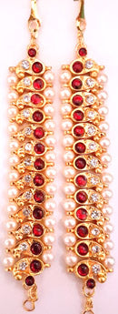 Jhumki Ear Extension Mattal Chain - JE3019
