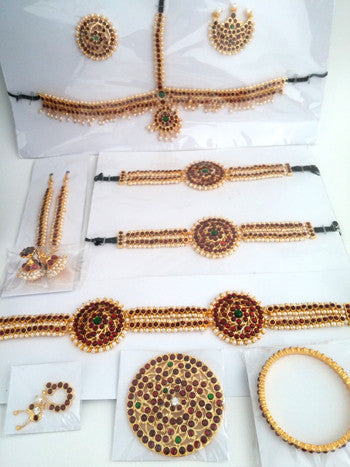 13pc Dance Jewelry Set - Kuchipudi Bharatanatyam KMPSET503