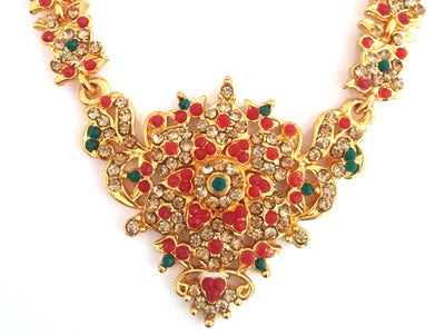 Kuchipudi Bharatanatyam Short Necklace - SN2224