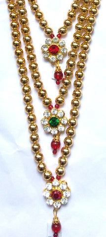 Krishna Costume Jewelry 3 Step Necklace