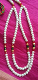Krishna Costume Jewelry 2 Step Pearl Necklace