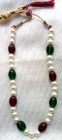 Krishna Costume Jewelry Short Pearl Necklace
