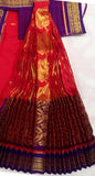 Kuchipudi Dress Dark Red Purple