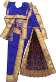 Readymade Kuchipudi Dress Blue with Gold