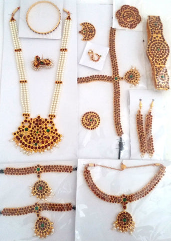 12pc Antique Jewelry Set Kuchipudi Bhartanatyam KMPSET508