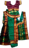 Kuchipudi Dress Dark Green Maroon