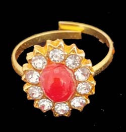 Coral Adjustable Fingure Ring for Dance