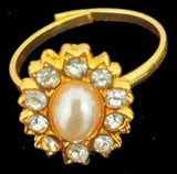 Pearl Adjustable Fingure Ring for Dance