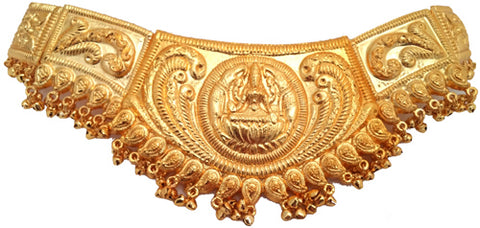 Extra Large Plain Gold Laxmi Waist Belt