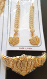 Lotus Design White Stones Dance Jewelry Set STNSET812